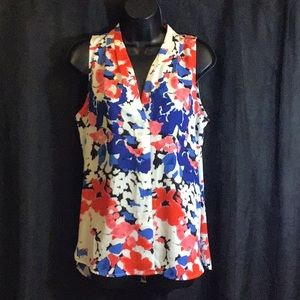 Vince Camuto MultiColor Flowery Blouse Size Small
